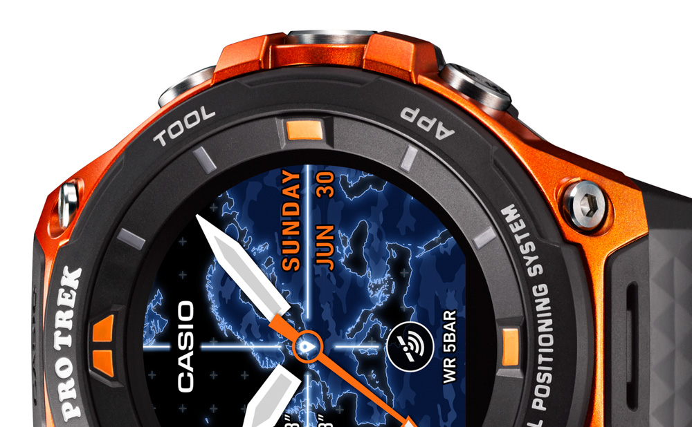 дисплей Casio-WSD-F20